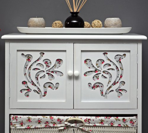 Country House Dresser disimpegno mobiletto del bagno 60 x 73 cm Mensola credenza con legno decorazione intaglio - 6