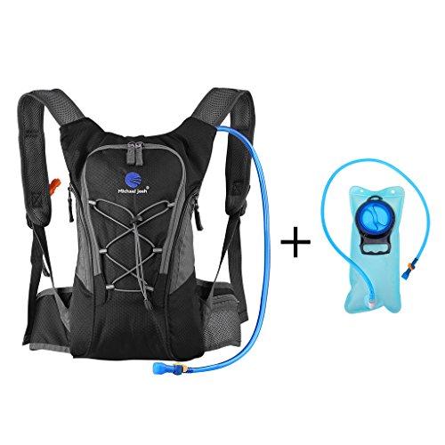 Hydration Rucksack Trinkrucksack(12L) mit Trinkblase(2L) Pack,Trinksystem Backpack