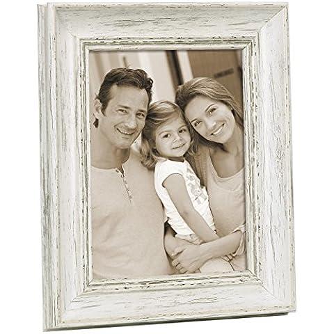 Zep DK1768 Adige Collection-Marco de fotos resina, 15 x 20 cm, color blanco
