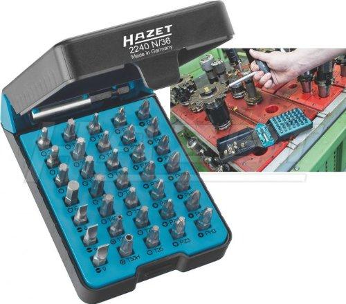 """Preisvergleich Produktbild HAZET Profi Bit-Satz (36 Einzelteile, für alle gängigen Verschraubungen, praktische """"BitE""""-Box) 2240N/36"""