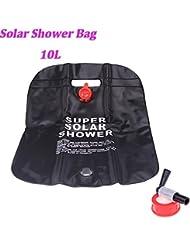 lesuzza (TM) alta calidad 10L camping senderismo bolso de energía solar climatizada Campamento Ducha de PVC exterior Ducha Bolsa de agua