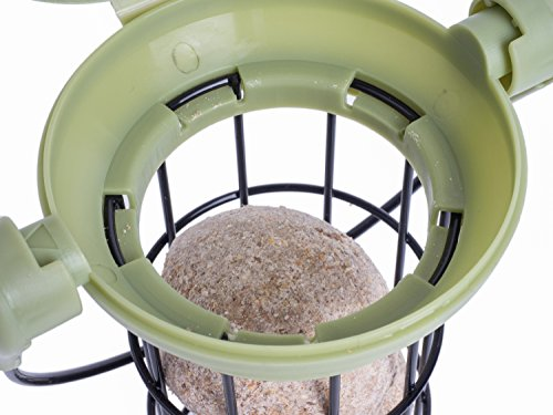 Petface 70040DS1 LokTop Squirrel Proof Fat Ball Feeder, Multi-Colour, 18.5x18.5x29 cm 5