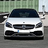Foliensatz für Frontschürze Frontstoßstange AMG S Design Look Zubehör Tuning 1044 (Schwarz)