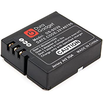 DURAGADGET Batterie de rechange D30 / DS-SD20 pour mini caméscope G-Eye Géonaute par Décathlon (première génération) - Li-ion 1000mAH 3.7V rechargeable - Garantie 2 ans