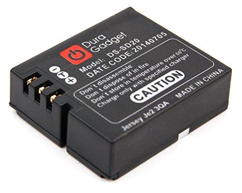 DURAGADGET Batterie de rechange D30 / DS-SD20 pour mini caméscope PNJ AEE MAGICAM SD18, SD19, SD21 / SD21G, SD23 (Naked) & 23G, et SD100 - Li-ion 1000mAH 3.7V rechargeable - Garantie 2 ans