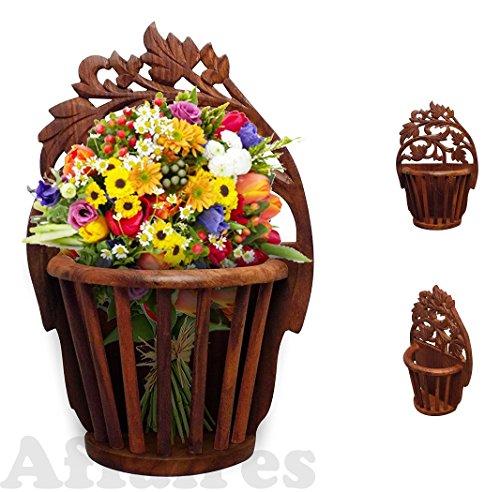 In legno da appendere alla parete vaso cesto interior design decorativo, regalo di natale o san valentino da affaires w-40166
