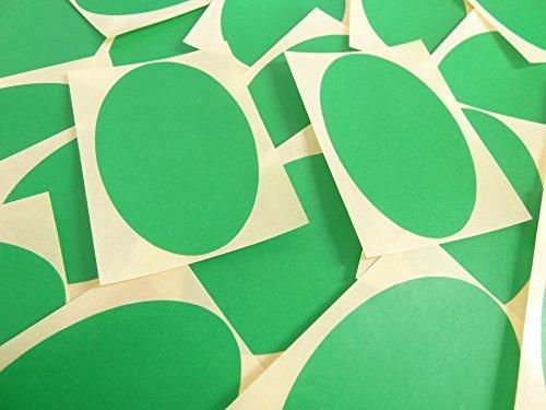 82x51mm Verde Medio Forma Ovalada Etiquetas, 25 auta-Adhesivo Código De Color Adhesivos, adhesivo óvalos para Manualidades y Decoración