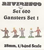 Reviresco 600 - Gangster - Mafiosi - Banditen - 30er Jahre - 5 Zinnfiguren - 28mm - 1:64 - Set 1