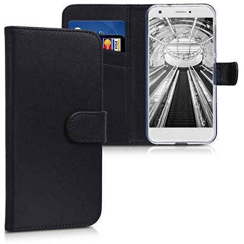 kwmobile ZTE Blade A512 Hülle - Kunstleder Wallet Case für ZTE Blade A512 mit Kartenfächern und Stand