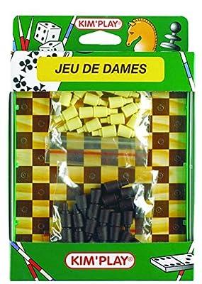 WDK PARTNER - A0400015 - Jeux de société - Jeu de dames - Coffret voyage