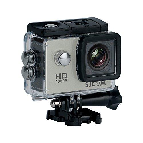 SJCAM SJ-4000 Deutsche Version wasserdichte Sport Actionkamera (5,08 cm (2 Zoll), FHD, 1080p, 30m, 12MP, 16 Zubehörteile) Silber - 4000 Sjcam Wifi