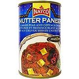 Natco - Mutter Paneer - Curri de guisantes y queso - 450 g - Pack de 2 unidades