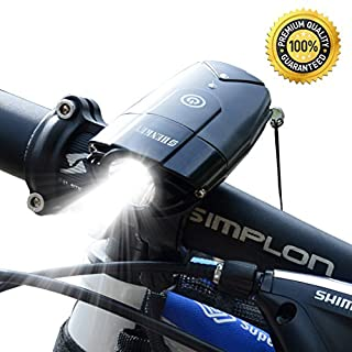 Bike Light USB Rechargeable Bicycle Front Light ,2000mAh/1000 Lumens LED Cycle Headlight Lamp IP65 Waterproof Bike Headlight for Cycling
