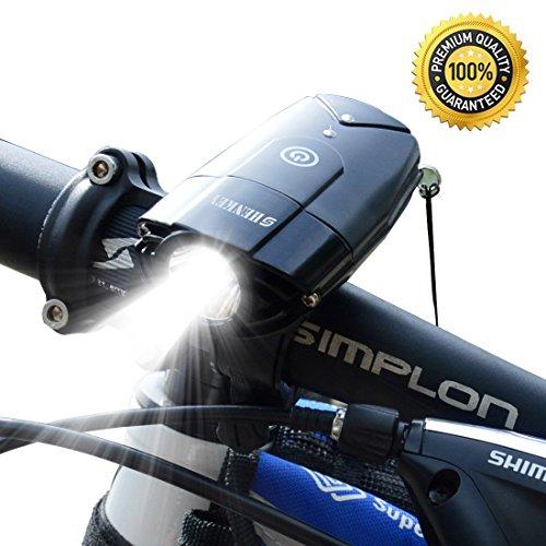 shenkey Luces Delanteras de la Bici Linterna Recargable del Ciclo del USB IP65 Linterna estupenda Impermeable de la Bicicleta 3W Led Luces de la Bicicleta para completar un Ciclo