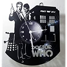 Reloj de vinilo de pared LP 33RPM Instant Karma Idea regalo Vintage Handmade–Serie TV–Doctor Dr Who