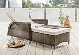 Destiny Liege Casa Luna Vintage Braun Polyrattan Gartenliege Relaxliege & Polster Natur