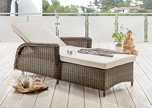relaxliege rattan top vidaxl poly rattan sonnenliege liegestuhl gartenliege relaxliege. Black Bedroom Furniture Sets. Home Design Ideas