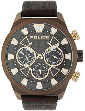 Police Analog Brown Dial Men's Watch-PL14801JSBZ12J