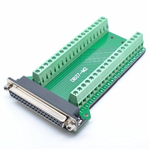 willwin DB37Stecker Fesselnde-Anschluss zu Verkabelung Terminal Breakout Board Lötfreie Female-Nut -