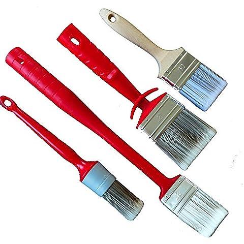 Pennello RADIATORE spazzola pennello ROTIX anello piatto pennello per vernici idrosolubili 4-pezzo Set