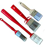 Rotix Anillo Pincel Radiador Pincel para pintar (Brocha plana para solubles en agua pintura de 4piezas Set