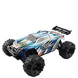 TOOGOO 2,4 GHz 4WD 1/18 High Speed Fernbedienung RC Rennwagen Off-Road Truck Geschenk (blau)