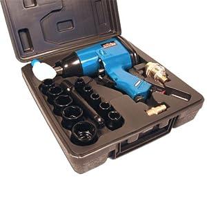 Mauk 16 teiliges Druckluft-Schlagschrauber Set 320Nm 1/2 Zoll inkl. Koffer und Nüssen – Schlagschraubersatz