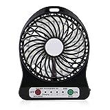 Hrph 3 Geschwindigkeiten Portable Mini-Lüfter für Wand-Ladegerät Cooling Fan für Haus und Büro Innen-und Outdoor-Aktivitäten als Reise
