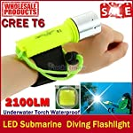 Description: 100% Brand New. Color: Light Yellow. LED: CREE XM-L T6. Battery: 1 X 18650 3.7V Battery (Not included) . The main purpose: Diving. Diving depth: 50m. Light mode: Strong, weak light, blasting flash. Switch mode: Rotary switch (This is the...