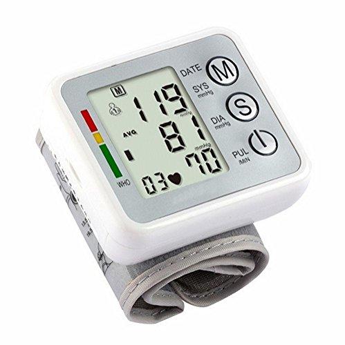 HRRH Voller automatischer intelligenter Handgelenk-Blutdruck-Monitor Automatischer Digital-Haushalt-Blutdruck-Monitor-Messinstrument für das Messen des Blutdruckes und der Pulsrate Weiß -