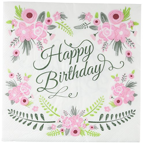 Ginger Ray Floral Design Happy Birthday Party Papier Servietten - Blumenmuster Lust