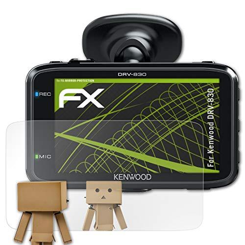 atFoliX Displayfolie kompatibel mit Kenwood DRV-830 Spiegelfolie, Spiegeleffekt FX Schutzfolie