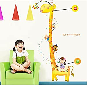 UberLyfe Giraffe Height Chart Wall Sticker - 5.5 Ft. Size 4 (Wall Covering Area: 173cm x 102cm) - WS-66