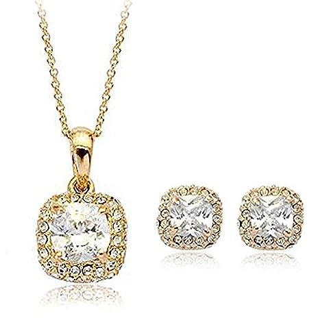 La vivacita superbe carré diamant Swarovski Cristaux Or Rose 18carats Coffret cadeau de haute qualité