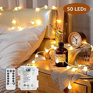 LE Guirnalda LED con Bombillas 8 Modos, Exteriores e Interiores