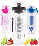 BeMo® Motivational Fruit Infuser Water Bottle, Large 1...