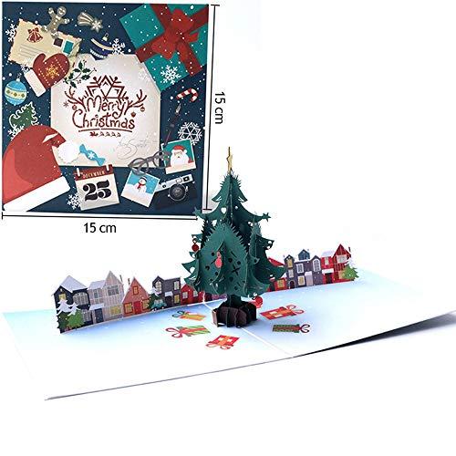 Details über 3D Pop-Up-Karte Weihnachtsgruß Baby Geschenk Urlaub Frohes Neues (Fußball-karte Ordner)