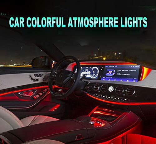 FEN&G Luci al Neon El Wire Auto,Comandi vocali Colorati Ricaricabili per Interni Auto Esterno Filo Freddo luci a LED Decorazione Fai-da-Te Striscia 2M 1Pcs