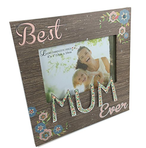 Best Mum Ever Photo Frame Gift New Wood With