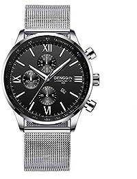 TAIPIEN Reloj Analogico para Hombre de Cuarzo con Correa en Acero Inoxidable Relojes de los Hombres