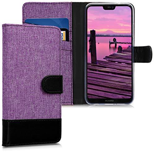 kwmobile Huawei P20 Lite Hülle - Kunstleder Wallet Case für Huawei P20 Lite mit Kartenfächern und Stand