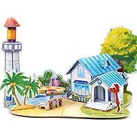 3D gruesa espuma Cartón Puzzle bricolaje Kit de artesanía/Modelo de edificio/Regalo/Kit de modelo Para niños # 33 - Peluches y Puzzles precios baratos