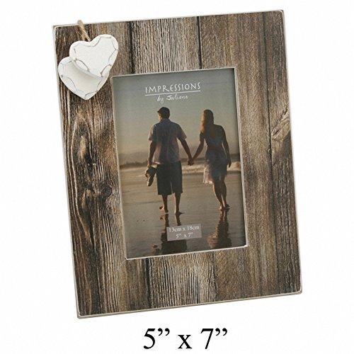 Juliana collection juliana two hearts wooden photo frame 5x7