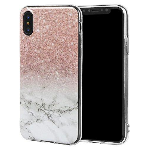 xhorizon Couvercle Housse en TPU Souple Flexible Marbre Pierre Motif Séries Protéger Contre Rayure Doigt Léger Convenable pour iPhone X / iPhone 10 #8