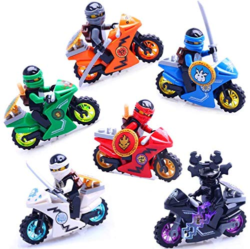 New Brand 6 pcs/Set Ninja Motorcycle Building Block Figures Toys Quality Action Toys Ninja Gold Figuren