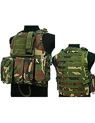 Táctico Asalto MOLLE combate chaleco, con bolsillo para cargador) para Airsoft y Paintball militar WC