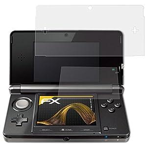 atFoliX 4050512280885_ 43DS Displayschutzfolie (Bildschirmschutzfolie Anti-reflejante, Nintendo, 3DS, Kratzresistent, transparent, 3Stück (S))