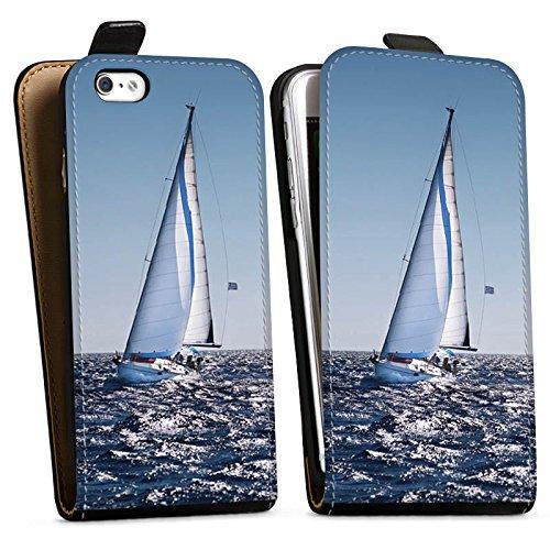 Apple iPhone X Silikon Hülle Case Schutzhülle Segeln Sailing Segelboot Downflip Tasche schwarz