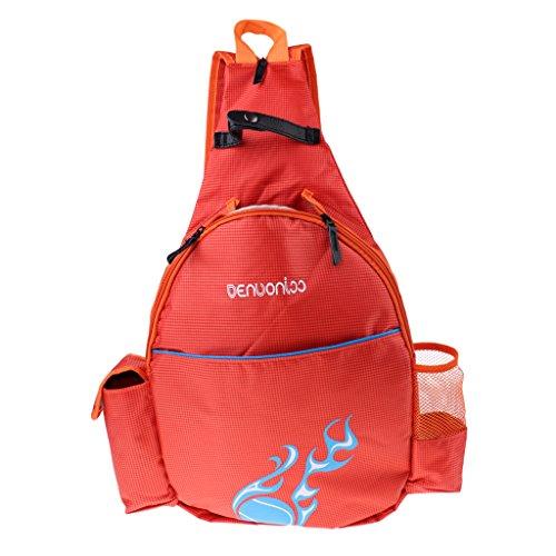 Unbekannt Sharplace Wasserfeste Tasche Schläger Rucksack Schultasche Freizeittasche Tennistasche Schlägertasche für Badminton Squash Tennis - Orange