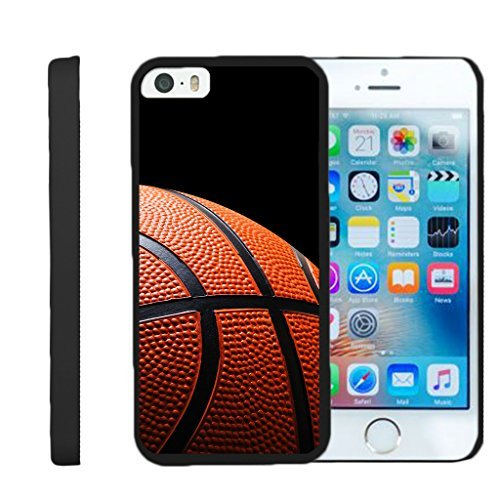 Kompatibel für Apple iPhone SE Fall | iPhone 5/5S Fall [Slim Duo] Compact Fit Hard Clip auf Case Slim Cover auf Schwarz Sport und Spiele von turtlearmor -, Basketball Seams (Mobile Iphone Virgin 5s-schwarz)